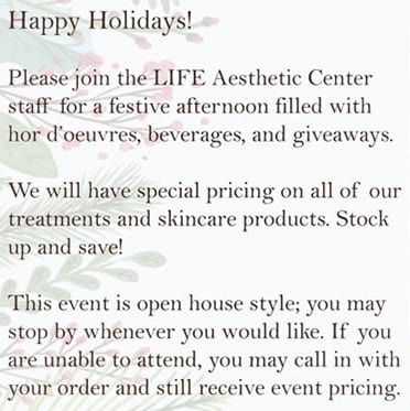 Holiday Party Invite Back